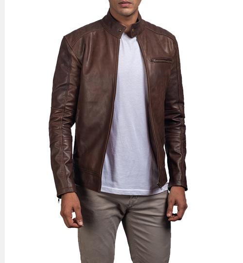Dean Brown Leather Jacket