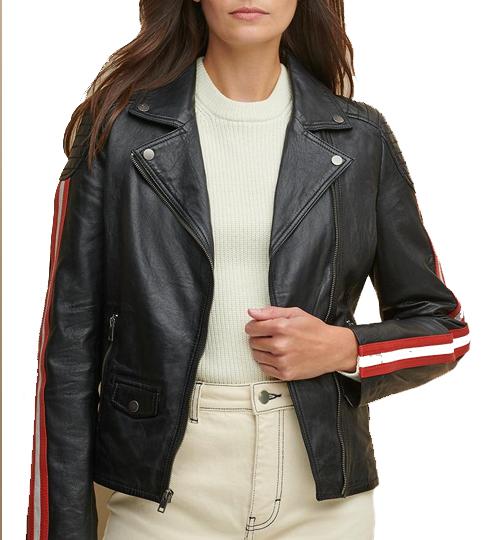 Grace Asymmetrical Striped Jacket