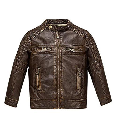 Budermmy Kids Faux Leather Jacket