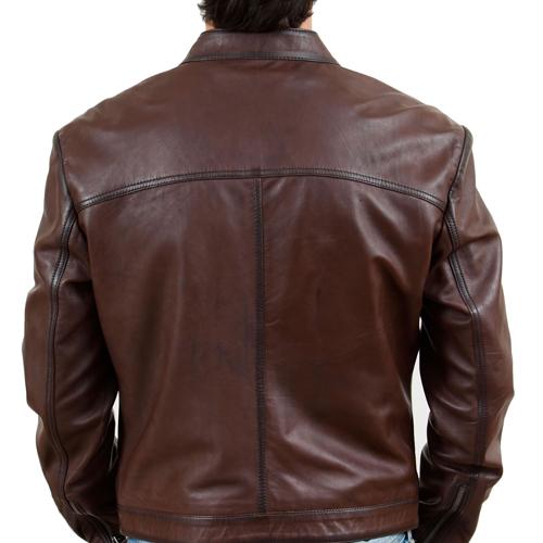 Men's Chestnut Brown Leather Jacket