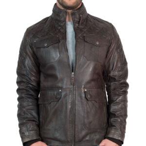 Mens Vintage Racing Leather Jacket