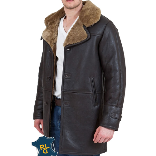 Men's Brown Hooded Leather Bomber Jacket_02