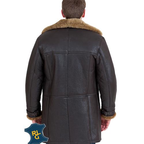 Men's Brown Hooded Leather Bomber Jacket_03