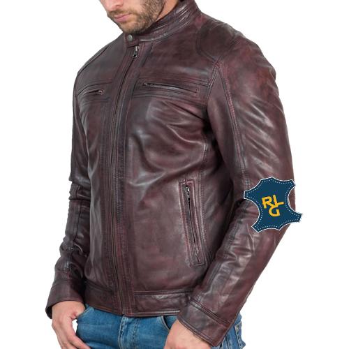Mens Vintage Bordeaux Leather Jacket_02