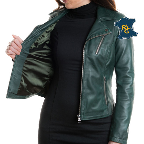 Womens Green Leather Jacket_02