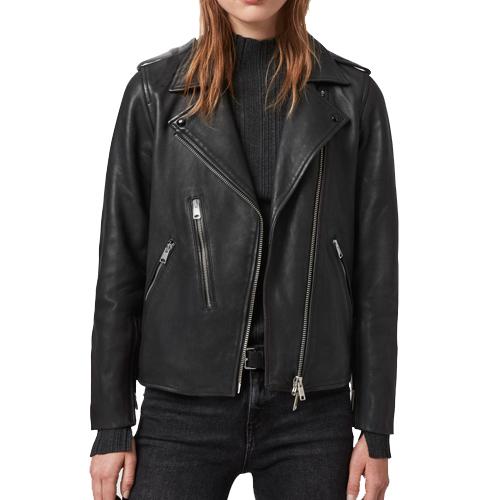 Elva Leather Biker Jacket