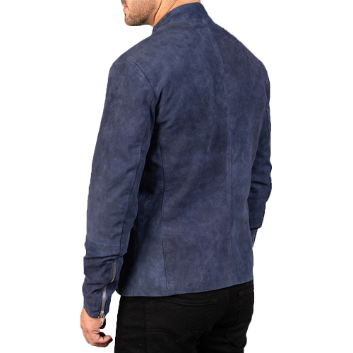 Charcoal Navy Blue Suede Jacket_03