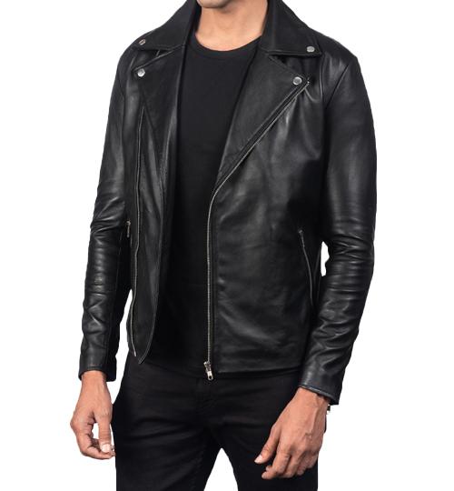 Noah Black Leather Biker Jacket_02