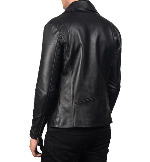 Noah Black Leather Biker Jacket_03