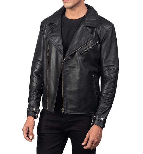 Raiden Black Leather Biker Jacket_02
